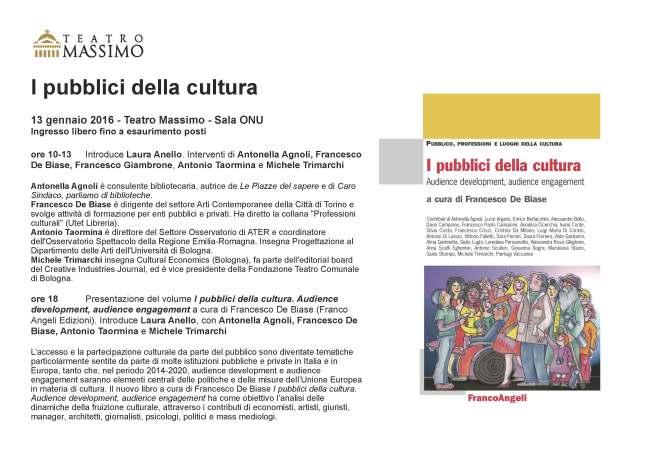 invito pubblici della cultura